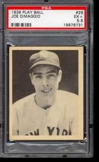 1939 Play Ball Joe Dimaggio #26 PSA 5.5 EX+ (PWCC)
