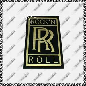 Fun Aufkleber ROCK N ROLL * ROCK AND ROLL Sticker DECAL