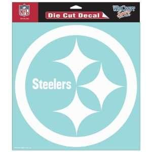 Pittsburgh Steelers 8X8 White Die Cut Window Decal/Film