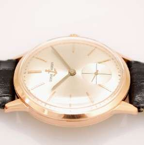 ORIGINAL ULYSSE NARDIN 18K SOLID ROSE GOLD MANUAL WIND VINTAGE MINT