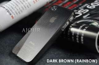 Elegant 0.5mm Ultra Thin iPhone 4 4S Phone Case Cover Black Rainbow