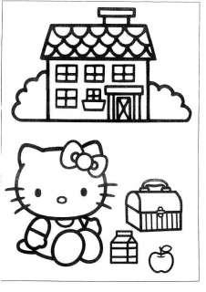 25 * Hello Kitty * Malvorlagen  Set 2