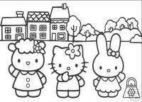 25 * Hello Kitty * Malvorlagen  Set 3
