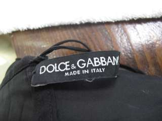 Dolce & Gabbana Black Sleeveless Corset Belt Cowl Neck Dress 40
