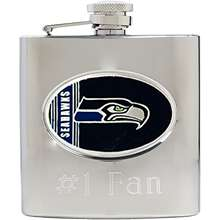 Great American Seattle Seahawks Stainless Steel Custom Flask