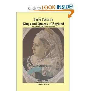 Basic Facts on Kings and Queens of England (9781462041220