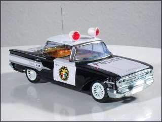 60er Chevrolet Impala Blech Polizei Auto mit Friction