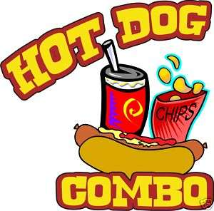 Concession Hot Dogs Hot Dog Food Sign Decal 14