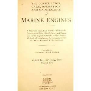 , OPERATION AND MAINTENANCE OF MARINE ENGINES Motor Boating Books