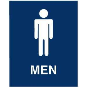 Mens Restroom Adhesive Backed Sign: Everything Else