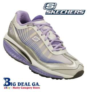 Skechers Shape Ups Womens Shoes SRR Resistor Ambition Silver/Lavender