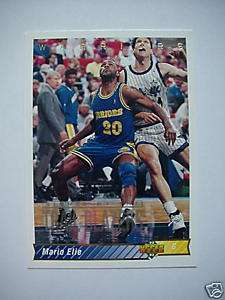 92 93 Upper Deck MARIO ELIE Warriors / Blazer Card # 28