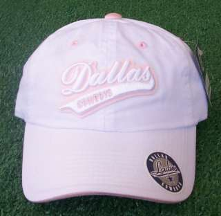 Dallas Cowboys Womens Pink White Hat Cap Reebok New