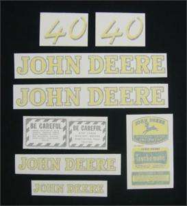 John Deere 40 Decal Set   Vinyl Cut NEW