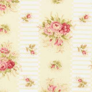Robyn Pandolph Pink Scarborough Fair Rose Quilt Fabric