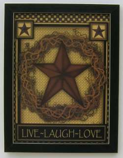 Live Laugh Love 12x16 Primitive Framed Country Pictures