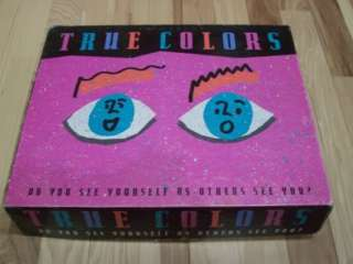 True Colors Board Game Good Condition Complete 1990 Edition