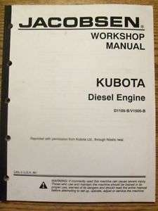 Jacobson WorkShop Manual Kubota Diesel Engine