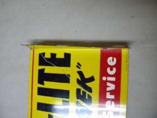 Old Autolite Ford Battery Spark Plugs Tin Flange Sign Original Plug