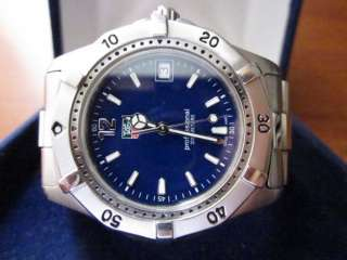 Nice Tag Heuer Professional 200m Date Blue Dial Stainless Men Watch