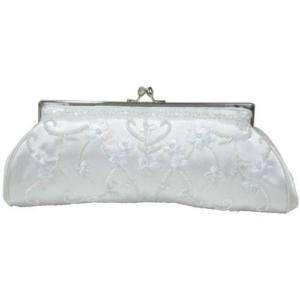 Carlo Fellini White Casablanca Bridal Evening Handbag