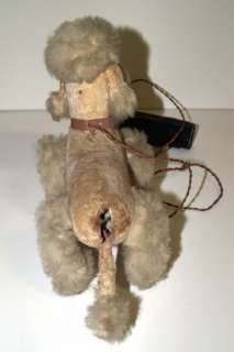 1950's Vintage Velvet Plush FRENCH POODLE DOG Toy_Battery Operated