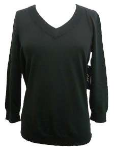 Anne Klein Sport black v neck sweater size XL
