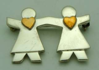 Friends of the Heart Two Tone Brooch