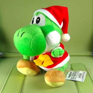 Super Mario Bros Xmas Yoshi+Mario Plush Doll Figure Toy