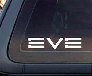 EVE Online Game Car Decal / Sticker   White (6 x 1.4 inches)