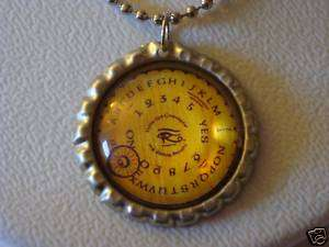 CLASSIC ROUND OUIJA BOARD GLASS DOMED CAP NECKLACE NEW