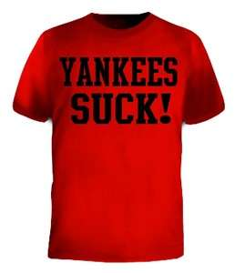 Yankees Suck Baseball Teams Sports Funny Jersey T Shirt