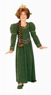 DISNEY SHREK PRINCESS FIONA CHILD COSTUME Green Ogre Theme Cute
