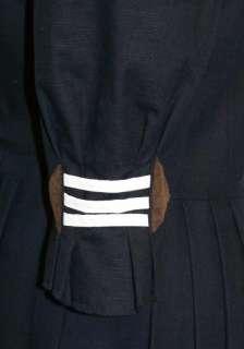 BLACK German Dirndl Long COTTON Summer Tie DRESS 14 L