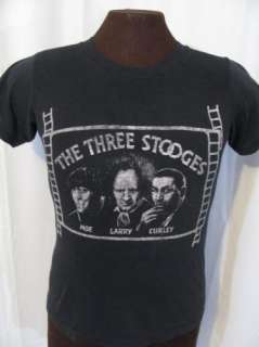 vintage THE THREE STOOGES 80s TV retro indie t shirt S