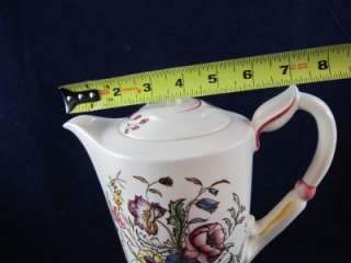 Vernon Kilns May Flower Large Coffee Pot & Lid Hand Painted Pottery