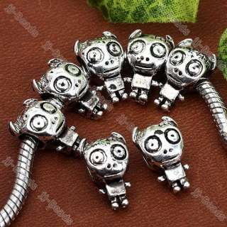 20pc Tibetan Silver Evil Robot European Beads Fit Charm