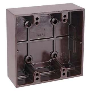 Gang 23 3/4 Cu. In. Surface Mount Box 5072 BROWN