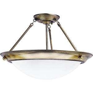 Lighting Eclipse Collection Antique Brass 2 light Semi flushmount