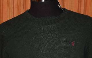 POLO RALPH LAUREN GREEN PULLOVER SWEATER MENS SMALL NWT