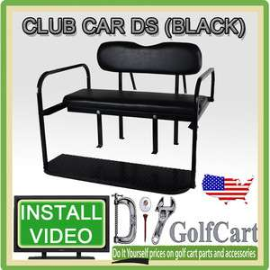 Club Car DS Golf Cart Rear Stationary Seat Kit   4 Passenger Back Seat
