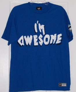 WWE Im Awesome Be Miz Big Logo Blue Adult Size Shirt