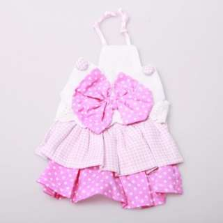 Layered Dress Pink bowknot Summer Spring Puppy Girl Skirt