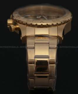 Invicta II Mens 18K GOLD Ion Plated Chronograph Stainless Steel Watch