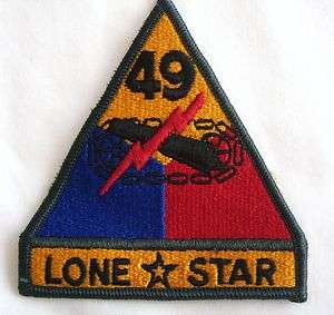 ARMORED DIVISION LONE STAR PATCH SSI U.S. ARMY   FULL COLORFA12 1