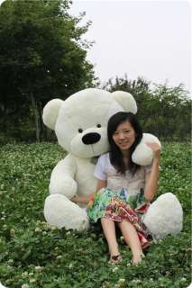 Hot GIANT 90cm TEDDY BEAR HUGE SOFT 100% COTTON TOY White |