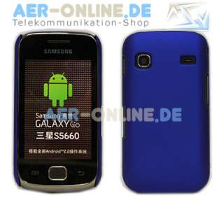 Hardcase für Samsung Galaxy Gio S5660 Cover +Folie Neu