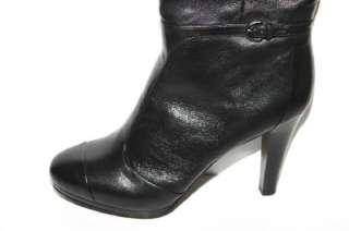 Womens COACH Q698 Scarlett Black Leather Knee High Boots Sz 11b NWOB $