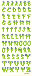 fORGET mE nOT fLOWER lETTER aLPHABET sTICKER sHEET