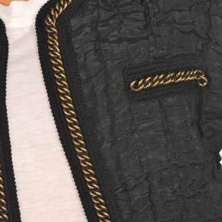 40 PAUL SMITH Black/White Short Sleeve Waistcoat Top Size XL RRP £